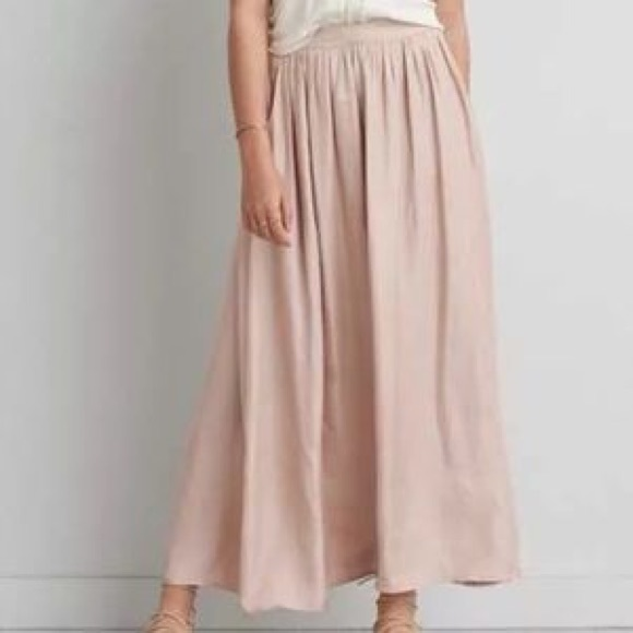 bc37d8e99002 American Eagle Outfitters Dresses & Skirts - 🌷American Eagle Pastel Pink  Satin Maxi Skirt🌷